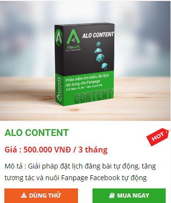 alo content giai phap xay dung noi dung fanpage dat lich dang bai tu dong - Top các phần mềm marketing đa kênh tốt nhất 2019