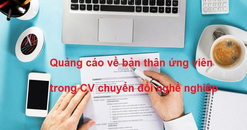 Cv Quang Cao Ve Ban Than Ung Vien