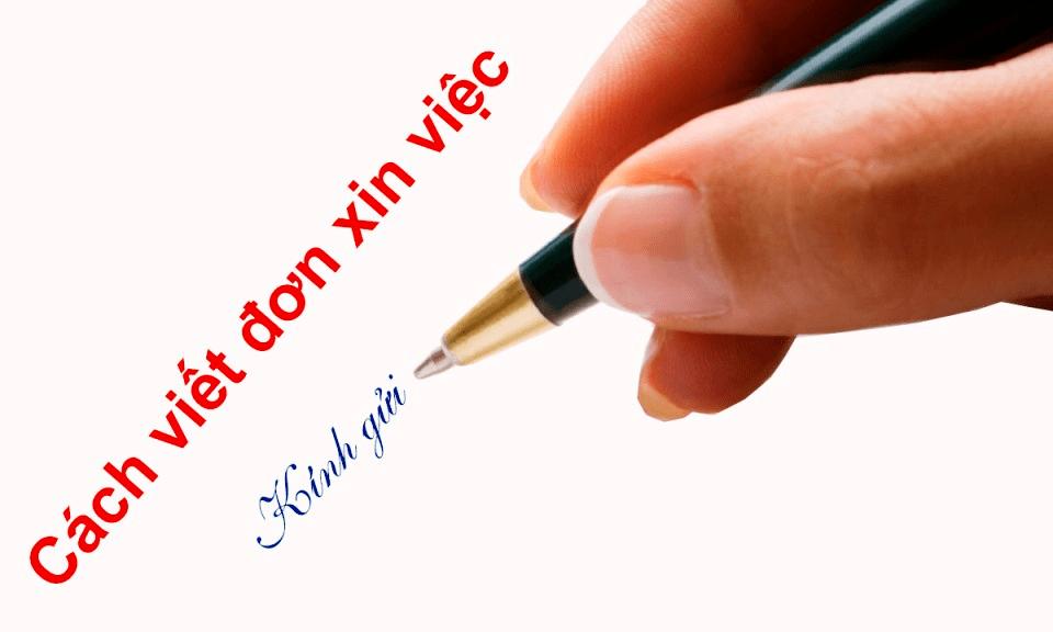Bi Quyet Viet Don Xin Viec Bang Tay
