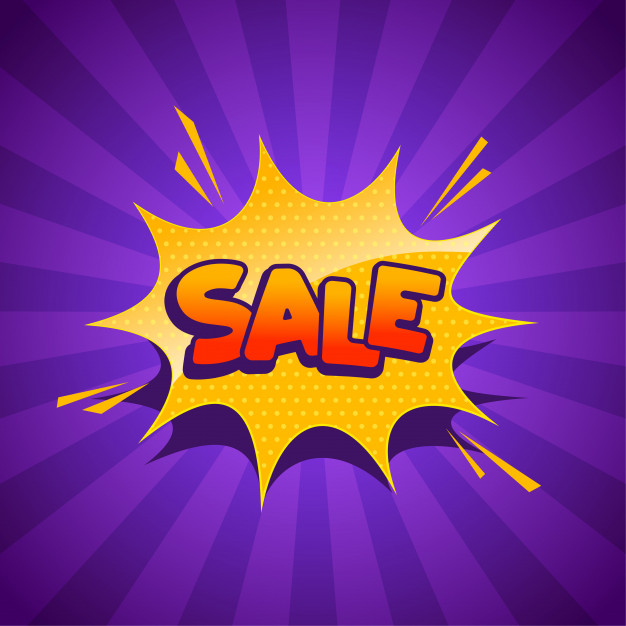 Sale Banner Comic Style 1017 17135