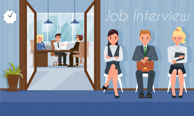 Job Candidates Wait Interview Turn With Hr Manager 82574 10250