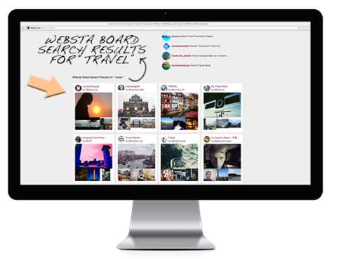 WEBSTA Blog — NEW: Search Instagram posts with Websta Boards