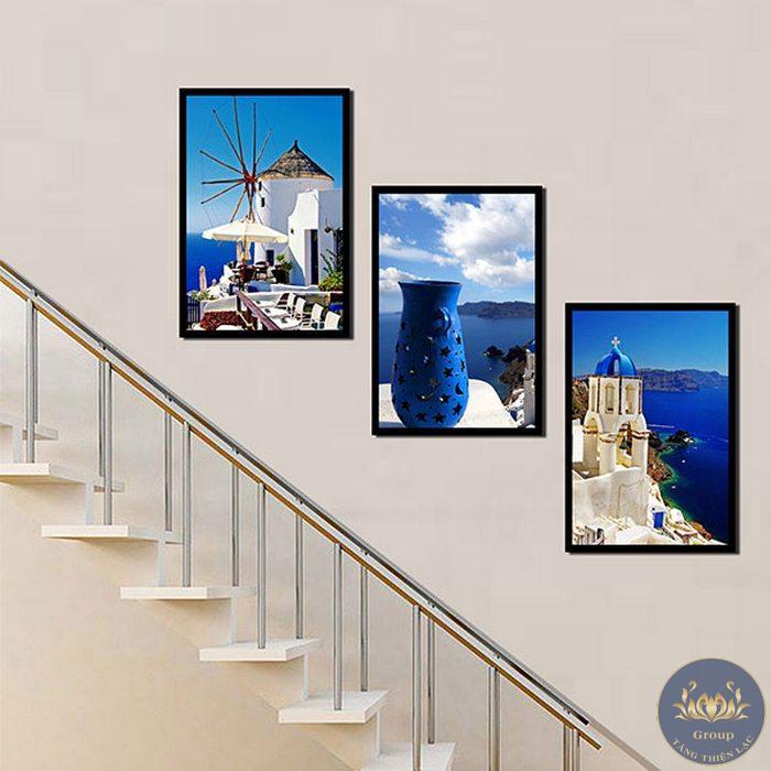 Dùng tranh dán tường cầu thang cho lối đi của chung cư, hotel, công ty