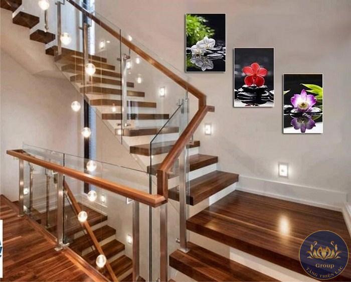 Tranh dán tường cầu thang cho từng không gian