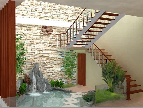 Tranh dán tường cầu thang tại Tăng Thiện Lạc