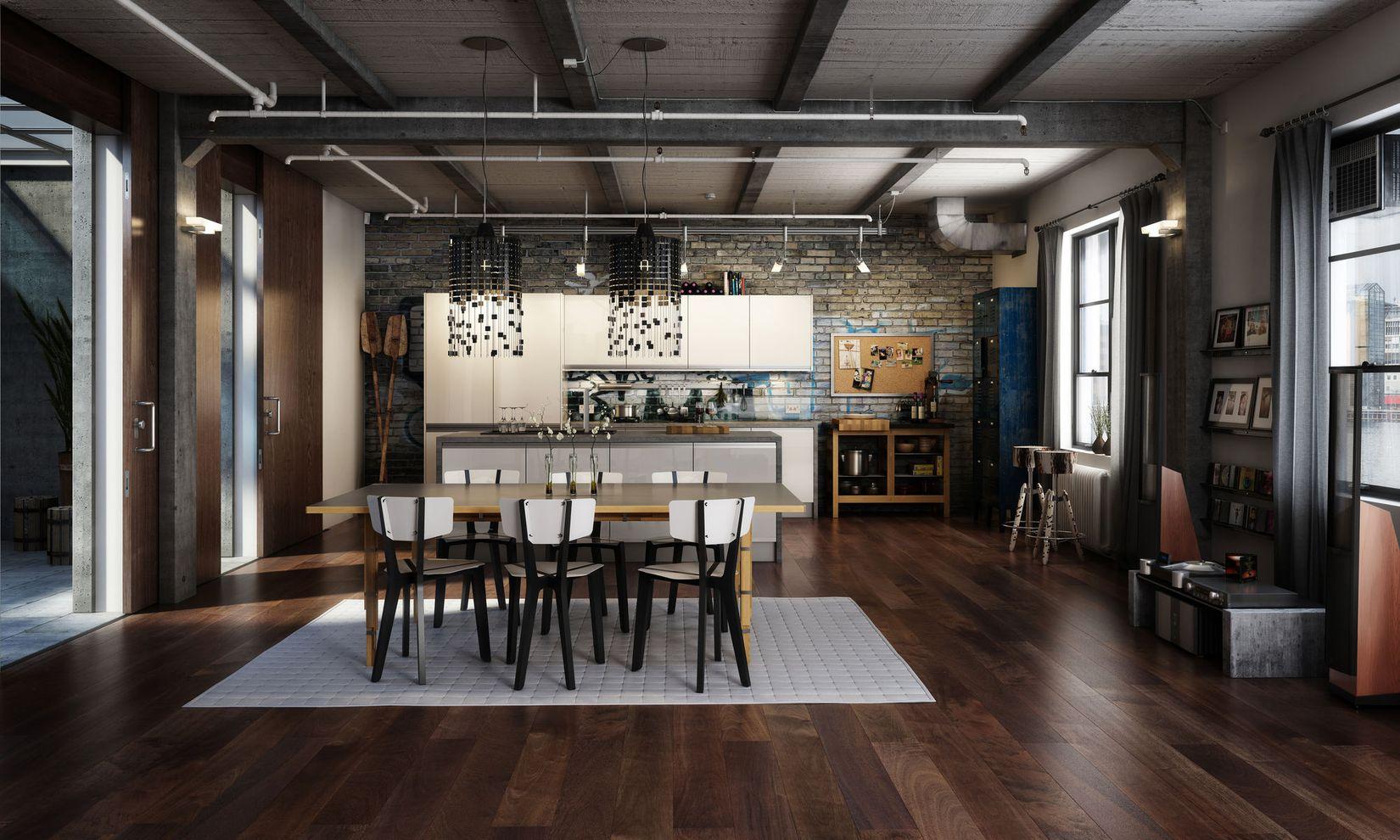 Phong cách thiết kế nội thất công nghiệp - Phong cách mạnh mẽ và ...
