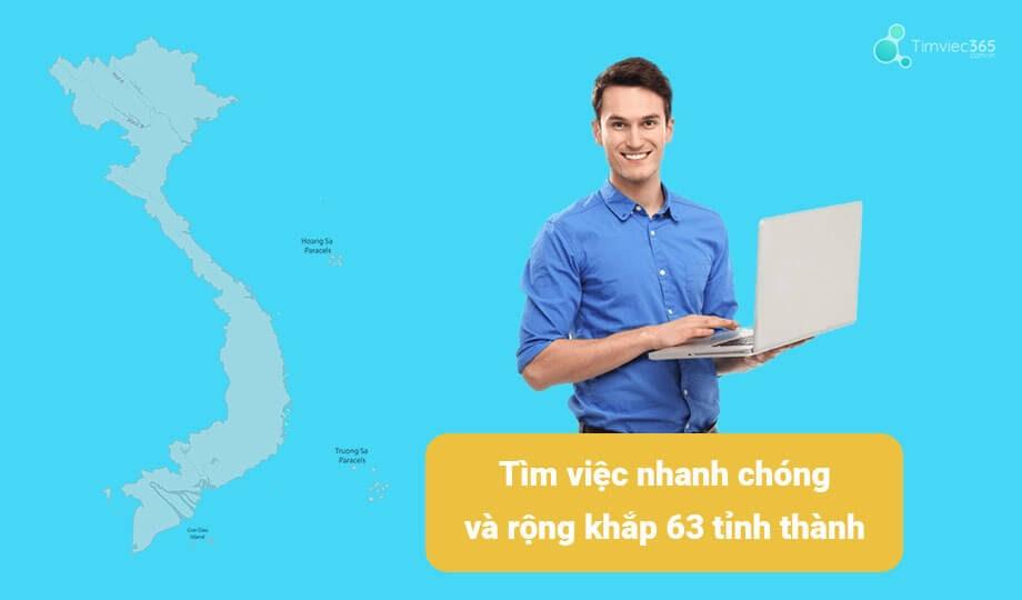 Timviec365.com.vn cập nhật tin nhanh từ 63 tỉnh thành trong cả nước